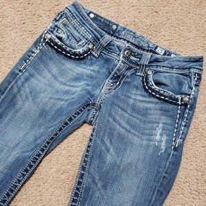 Miss Me Blue Jeans Boot Cut Size 25 x 28 Worn